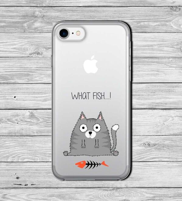 Fat cat what fish phone case design