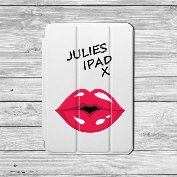 Customise your lips ipad case with your name