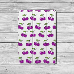 Purple Cherries Ipad case design