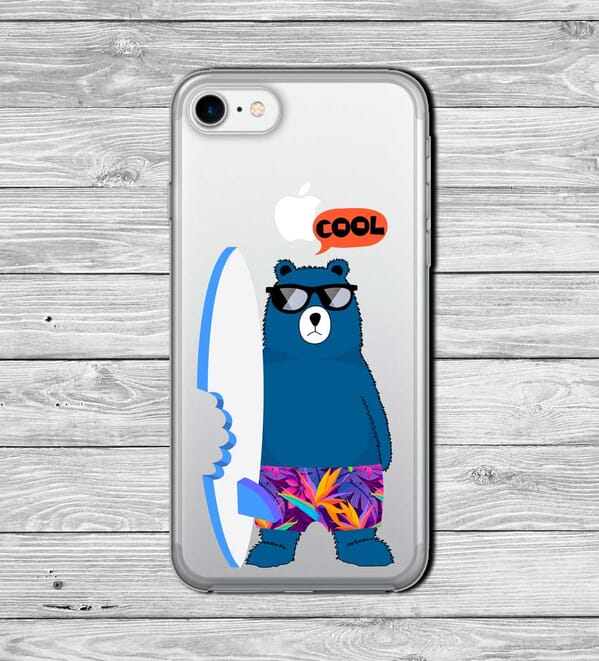 bear with a surf board